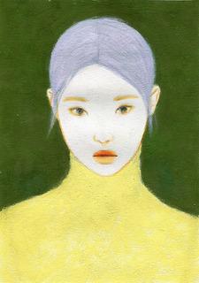 �@花村信子「かすみ草」28.4×20.4アクリルグワッシュ色鉛筆.jpg