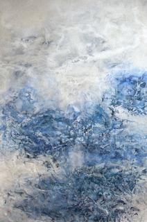�A岸田尚子「水面�X」M12和紙膠岩絵具.jpg